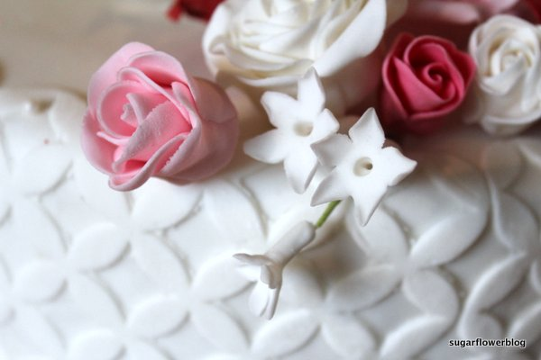 Stephanotis fondant flower and roses
