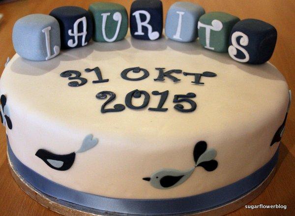 Birthday Cakes For Boys With Name ~ Baby boy christening cake karen's sugar flower blog