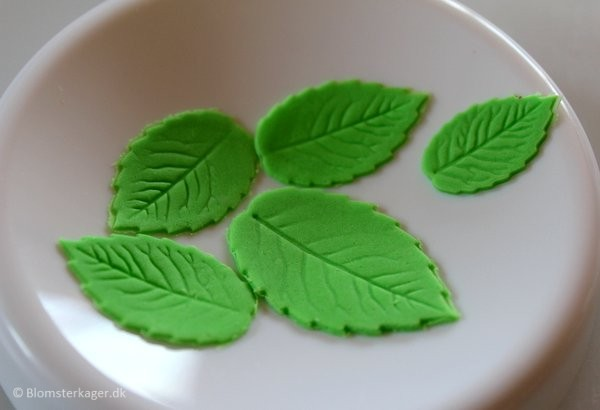 How to make a leaf from fondant or gum paste 13