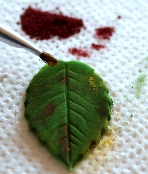 How to make a leaf from fondant or gum paste 20