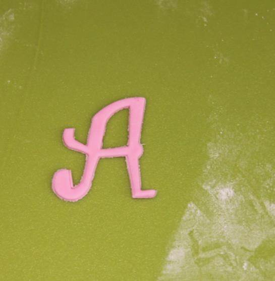 How to make fondant letters5
